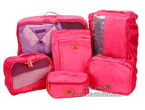set túi đựng đồ đi du lịch