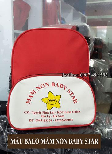 sản xuất balo mầm non quà tặng Baby Star