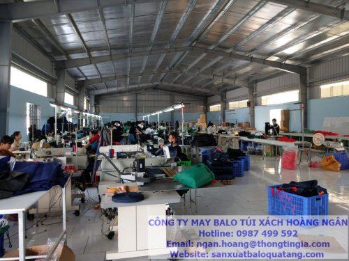 nhà máy sản xuất balo quà tặng tại Ninh Bình