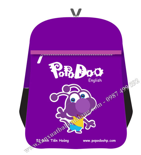 Maket mẫu balo quà tặng Popodoo 2020
