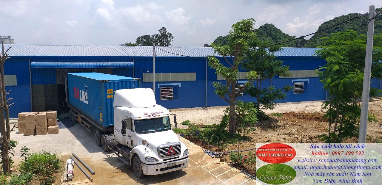 Nhà máy may balo túi xách xuất khẩu tại Ninh Bình