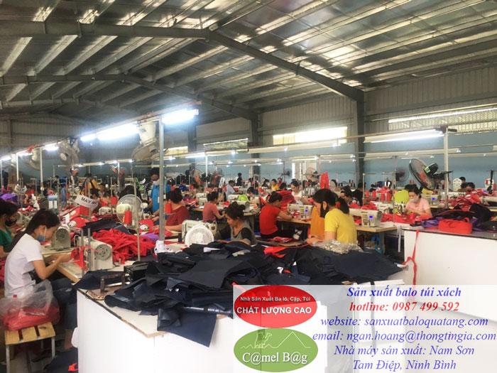 Nhà máy may balo tại Ninh Bình