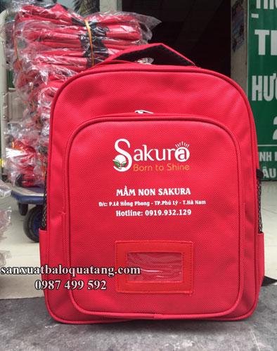 mẫu balo mầm non trường Sakura
