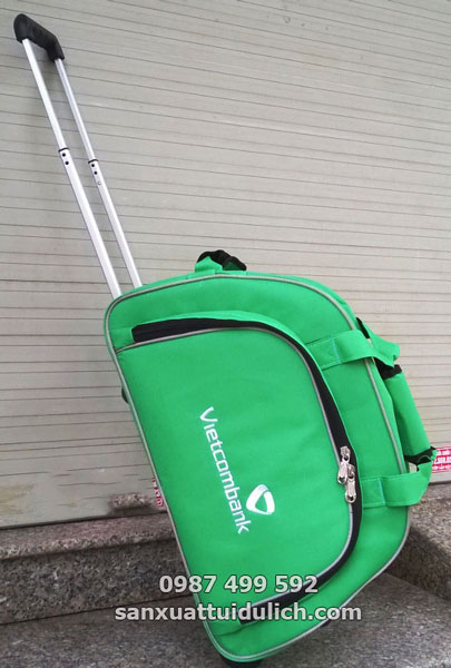 Sản xuất túi du lịch kéo Vietcombank