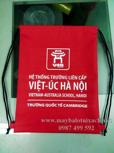 Sản xuất balo dây rút quà tặng trường Việt Úc