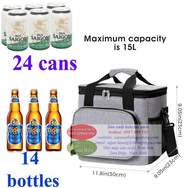 Sản xuất túi giữ nhiệt đựng chai, lon đồ uống lạnh